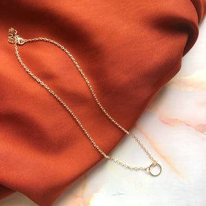 Infinity hoop Necklace