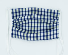 Load image into Gallery viewer, Non- Medical Face Mask (White and Blue Gingham)