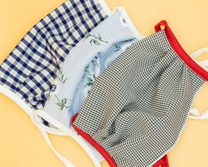 Non- Medical Face Mask (White and Blue Gingham)