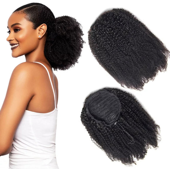 NATURAL AFRO  CURLY PONYTAIL 14 INCHES