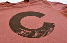 "Load image into Gallery viewer, Colorado ""C"" Heather Clay T-Shirt"