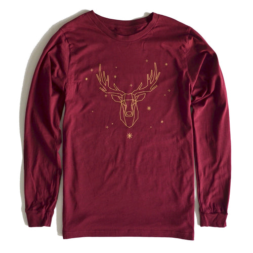 Elk with Snow - Long Sleeve Shirt