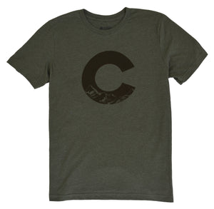 "Colorado ""C"" Heather Military Green T-Shirt"