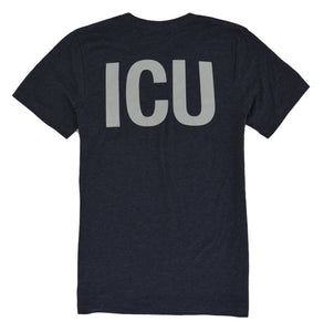 ICU Nurse Shirt RN - Midnight Navy