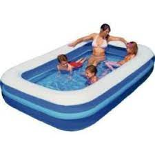 Giant Rectangular Inflatable Family Garden Large Pool 2m x 1.5m Outdoor Fun