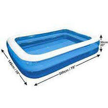 Load image into Gallery viewer, Giant Rectangular Inflatable Family Garden Large Pool 2m x 1.5m Outdoor Fun