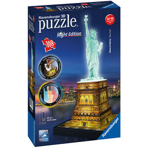 3D Puzzle Night Liberty
