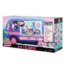 L.O.L. Surprise! O.M.G. 4-in-1 Glamper Fashion Camper with 55+ Surprises
