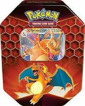 Load image into Gallery viewer, Pokémon: Trading Card Game: Hidden Fates Tin: Charizard/Gyarados/Raich