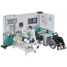 Bruder Bworld Health Clinic with Doctor & Wheelchair 1:16 Scale 62711