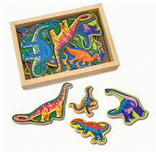 Melissa and Doug Wooden Dinosaur Magnets     20 Pcs