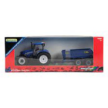 Load image into Gallery viewer, New Holland T6 Tractor with Trailer Play Set