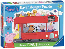 London Bus Shaped Giant Floor Puzzle, 24pc