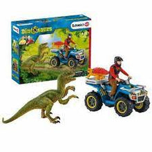 Load image into Gallery viewer, 41466 Schleich Quad Escape from Velociraptor Set Dinosaurs Figure Plastic
