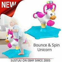 Load image into Gallery viewer, Fisher-Price Bounce and Spin Unicorn