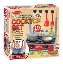 Load image into Gallery viewer, Melissa and Doug Deluxe Wooden Cooktop Set