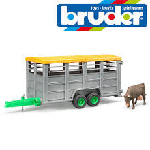 Load image into Gallery viewer, Bruder Livestock Trailer with One Cow
