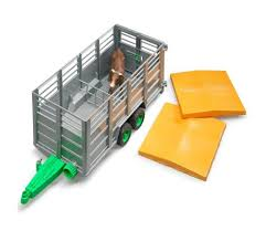 Bruder Livestock Trailer with One Cow