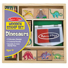 Load image into Gallery viewer, Melissa & Doug Dinosaur Stamp Set