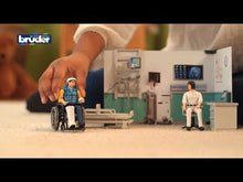 Load and play video in Gallery viewer, Bruder Bworld Health Clinic with Doctor & Wheelchair 1:16 Scale 62711