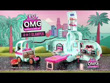 Load and play video in Gallery viewer, L.O.L. Surprise! O.M.G. 4-in-1 Glamper Fashion Camper with 55+ Surprises