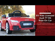 Load and play video in Gallery viewer, Audi 6V Electric Ride On - Red