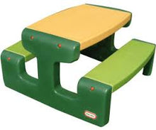 Load image into Gallery viewer, Little tikes  junior picnic table  evergreen.
