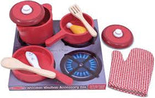 Load image into Gallery viewer, Melissa & Doug Wooden Kitchen Accessory Set