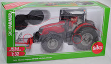 Load image into Gallery viewer, SIKU 8614 1:32 MASSEY FERGUSON MF 8680 TRACTOR WITH BALE HANDLER
