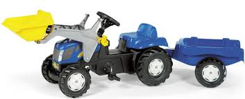 Trailer New Holland TVT 190 Kids Ride On Pedal Tractor & Trailer