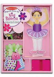 Melissa And Doug Nina Ballerina Magnetic Wooden Dress-Up Doll