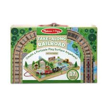 Load image into Gallery viewer, Melissa and Doug Take-Along Tabletop-Railroad