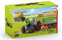 Load image into Gallery viewer, SCHLEICH Farm World Tractor with Trailer