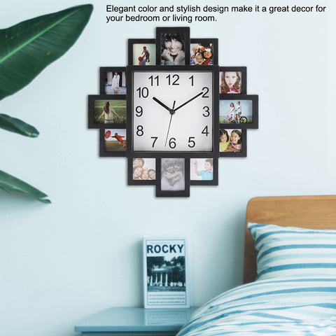 Image of Photo Frame Wall Clock Picture Clock