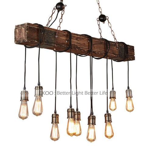 Image of Brio - Antique Wooden Beam Hanging Light