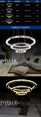 Image of Circular Crystal LED Chandelier