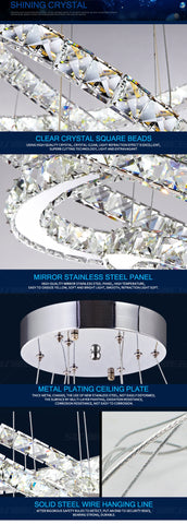 Circular Crystal LED Chandelier