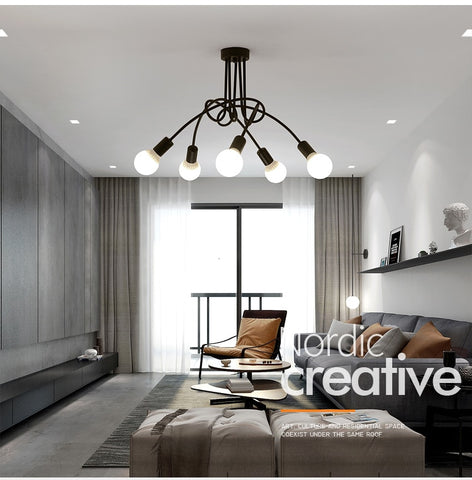 Image of Modern Industrial Loft Chandelier