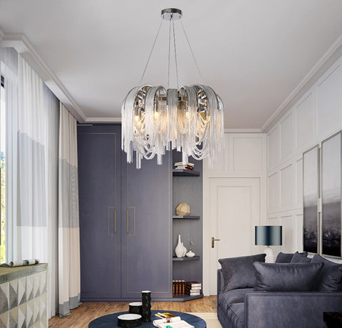 Image of BLOSSOM Aluminum Chain Pendant Light - Luxurious Modern Chandelier
