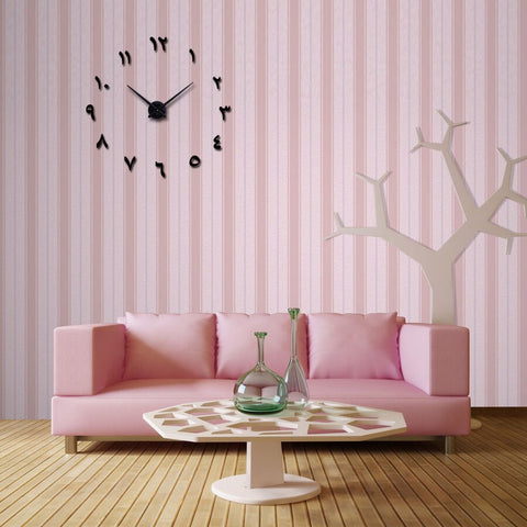 Image of Wall Clock Horloge 3d Diy Acrylic Mirror Stickers