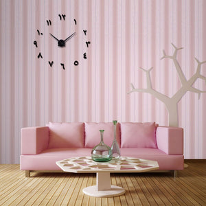 Wall Clock Horloge 3d Diy Acrylic Mirror Stickers