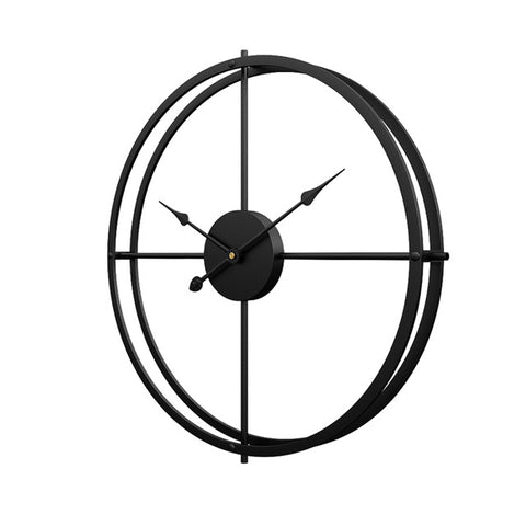 Silent Iron Wall Clock Modern Design