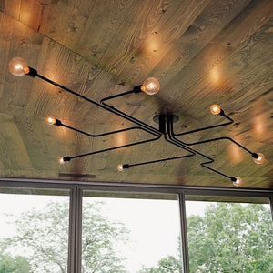 "Retro 23 1/2"" to 47 1/4"" Wide Metal Wire Branching Pendant Ceiling Lights"
