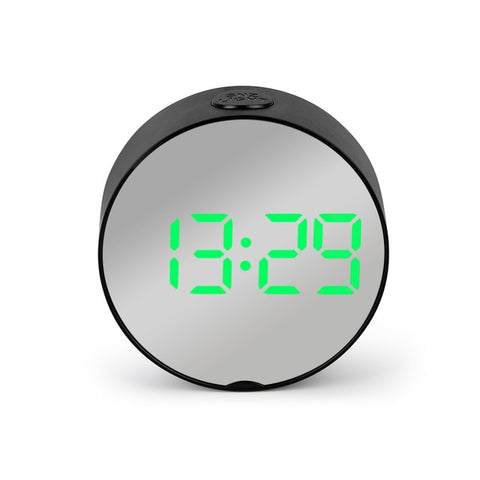 Image of Digital Mirror LED Alarm Clock Night Lights Thermometer