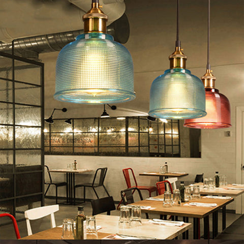 Sosie - Retro European Color Glass Pendant Light