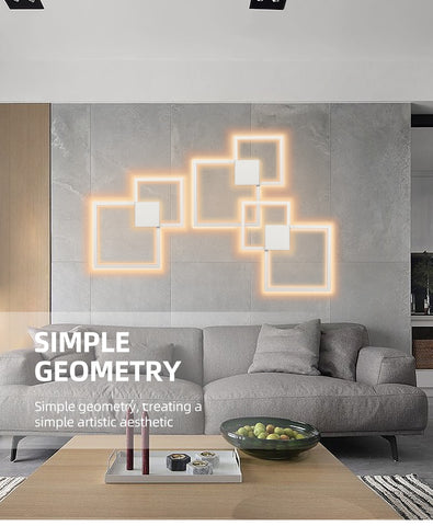 Image of Rowley - Square Modern Wall Lamp