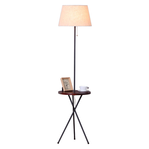 Image of Lance - Modern Nordic End Table & Lamp
