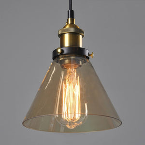 "Vintage 5.5"" To 11"" Wide Pendant Glass Retro Lights - Sofrey Selects"