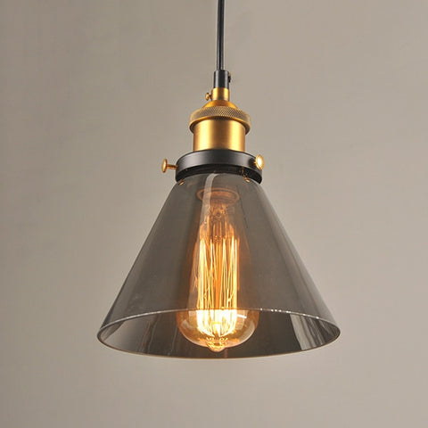 "Image of Vintage 5.5"" To 11"" Wide Pendant Glass Retro Lights - Sofrey Selects"