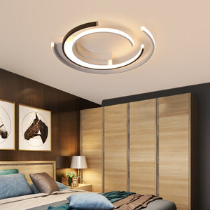 Circular Modern LED Ceiling Pendant Lights White Black